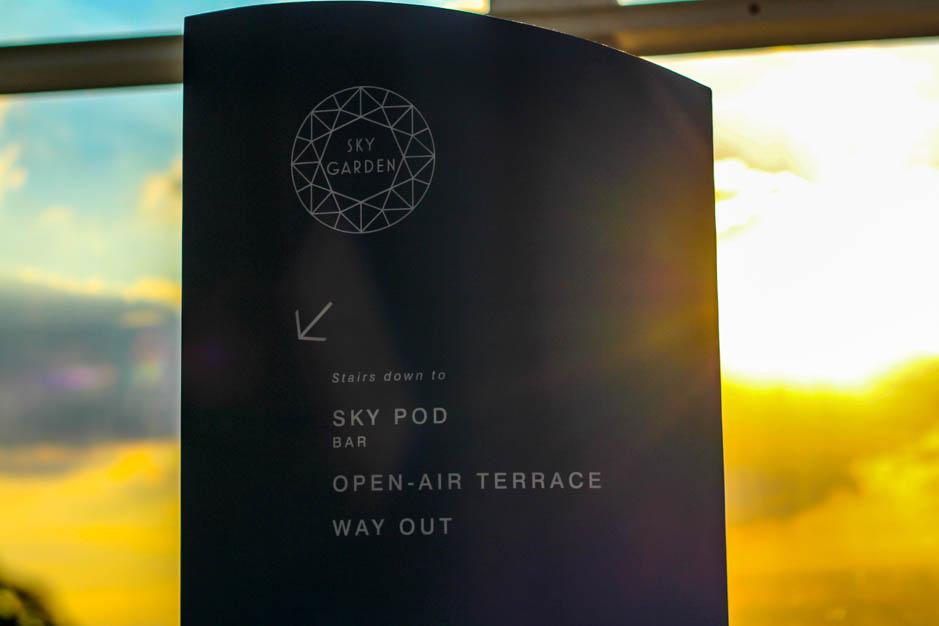 Sky Pod Bar Sky Garden