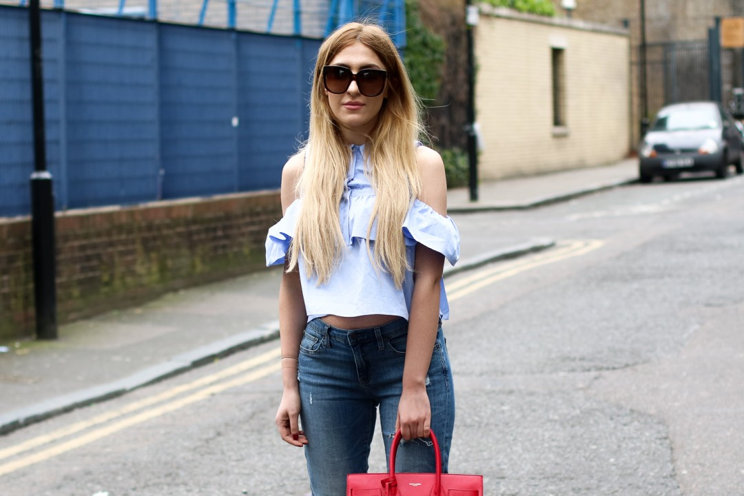 6babef2c50bf How to Wear Spring s Off the Shoulder Trend - thelondonthing.co.uk