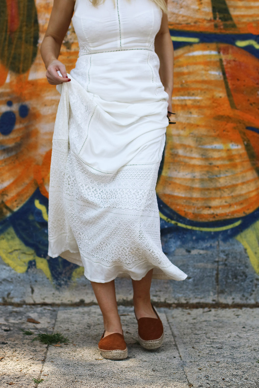 Superdry White Maxi Dress