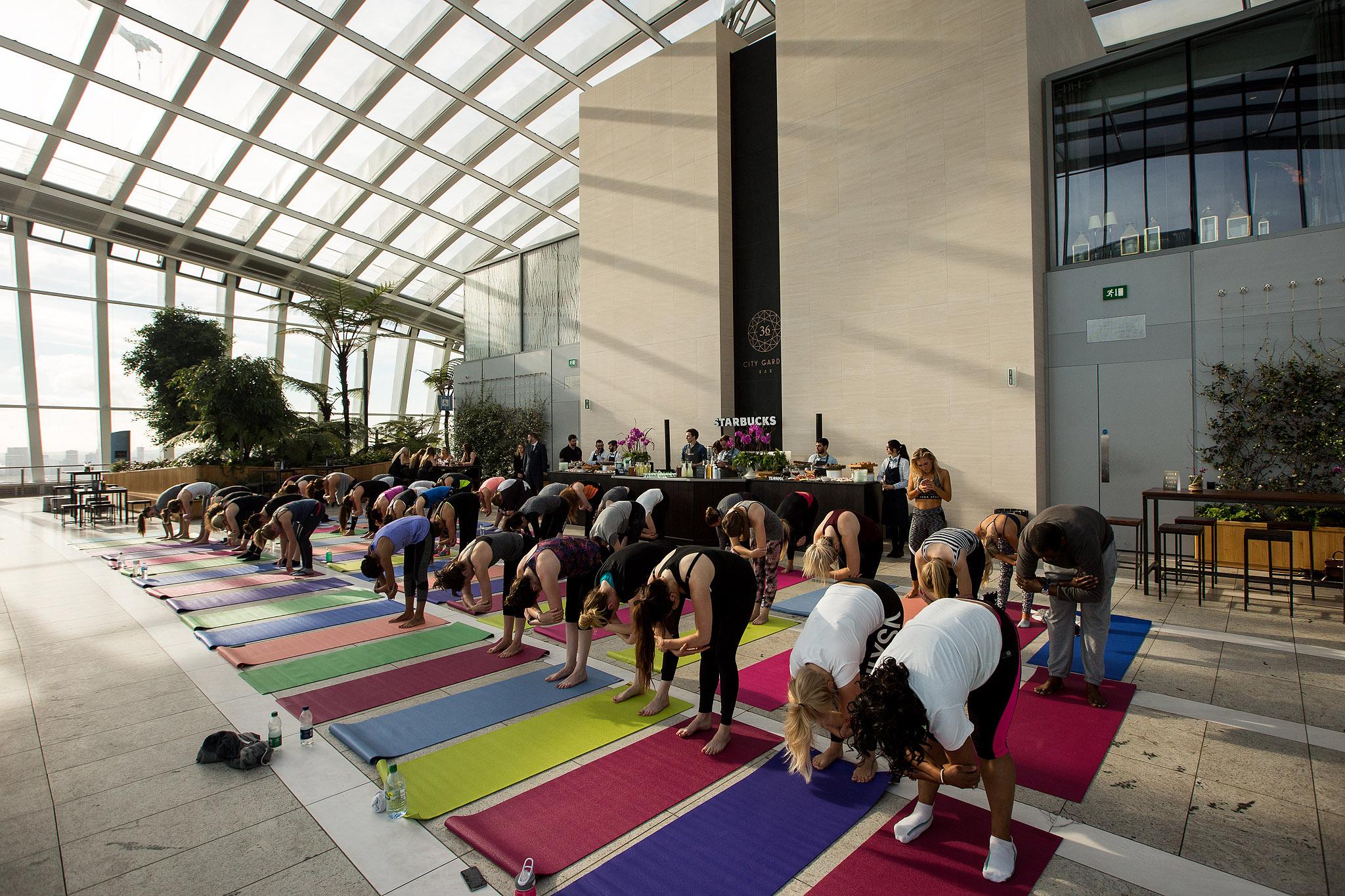 Sunrise Yoga with Teavana Starbucks