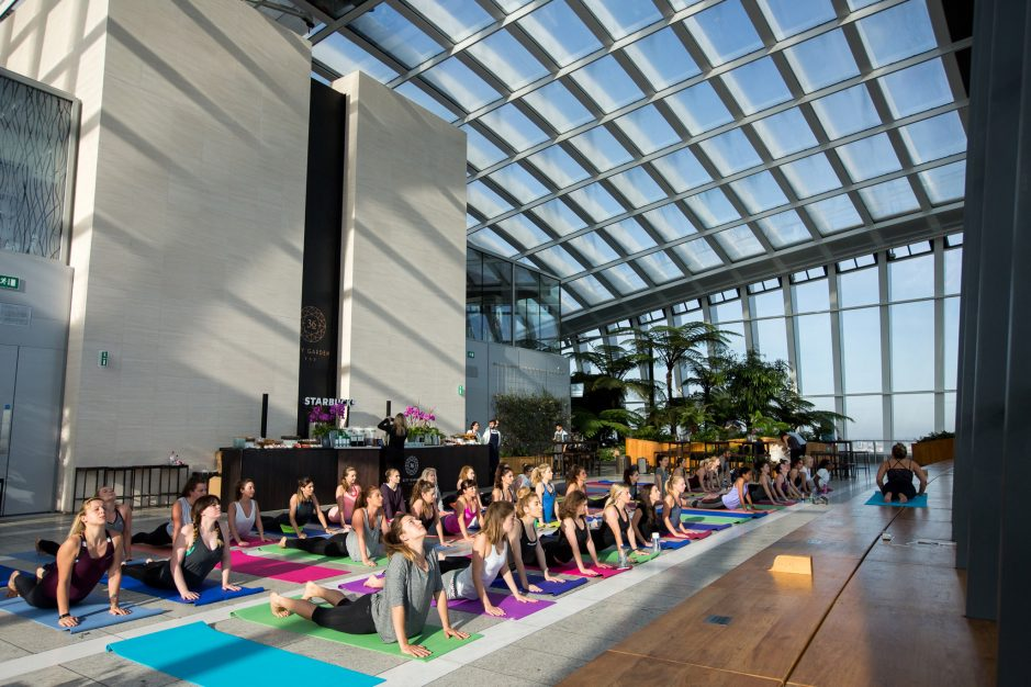 Sunrise Yoga with Teavana Starbucks