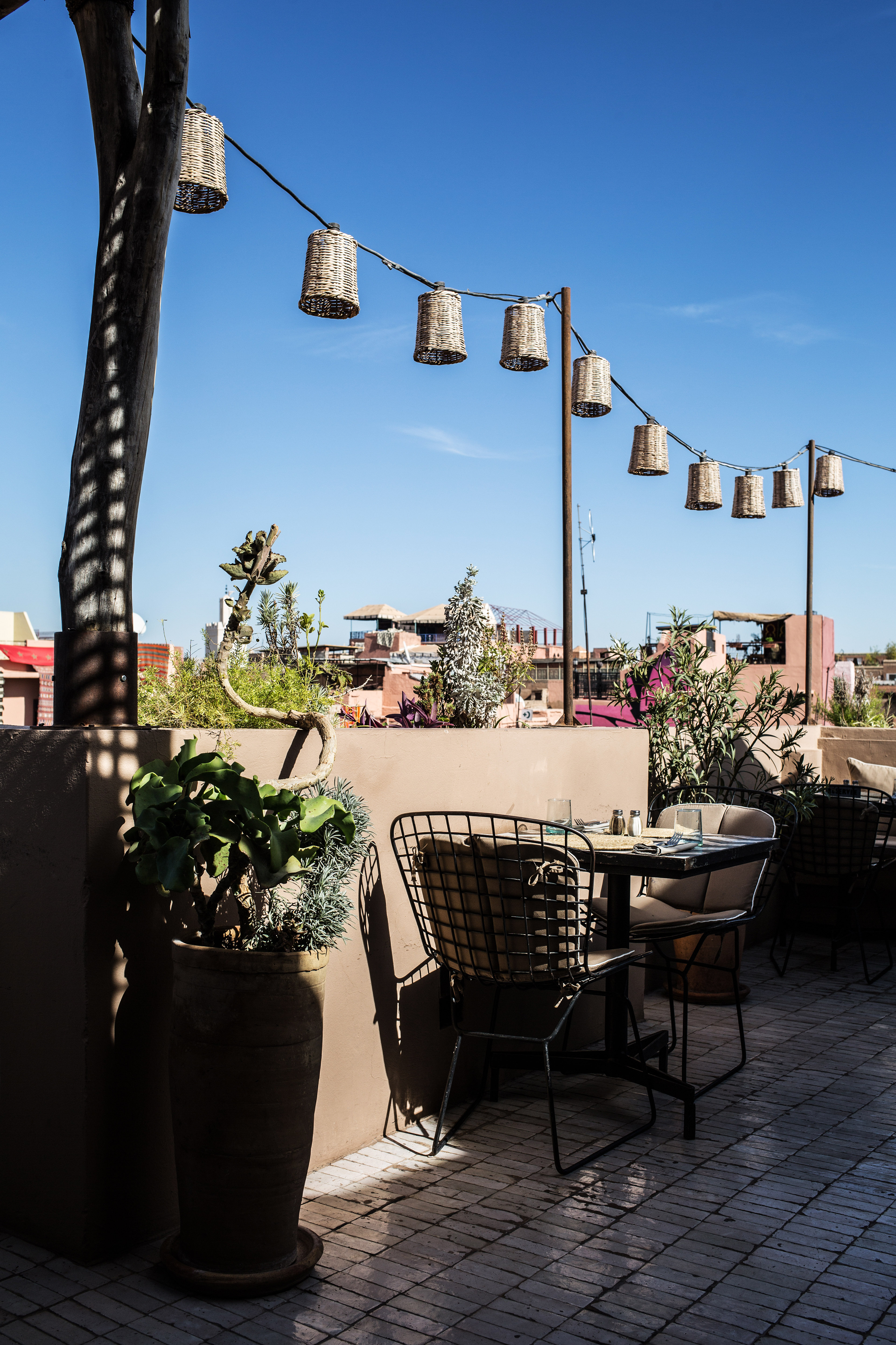 Terrace Dining At Nomad Marrakech