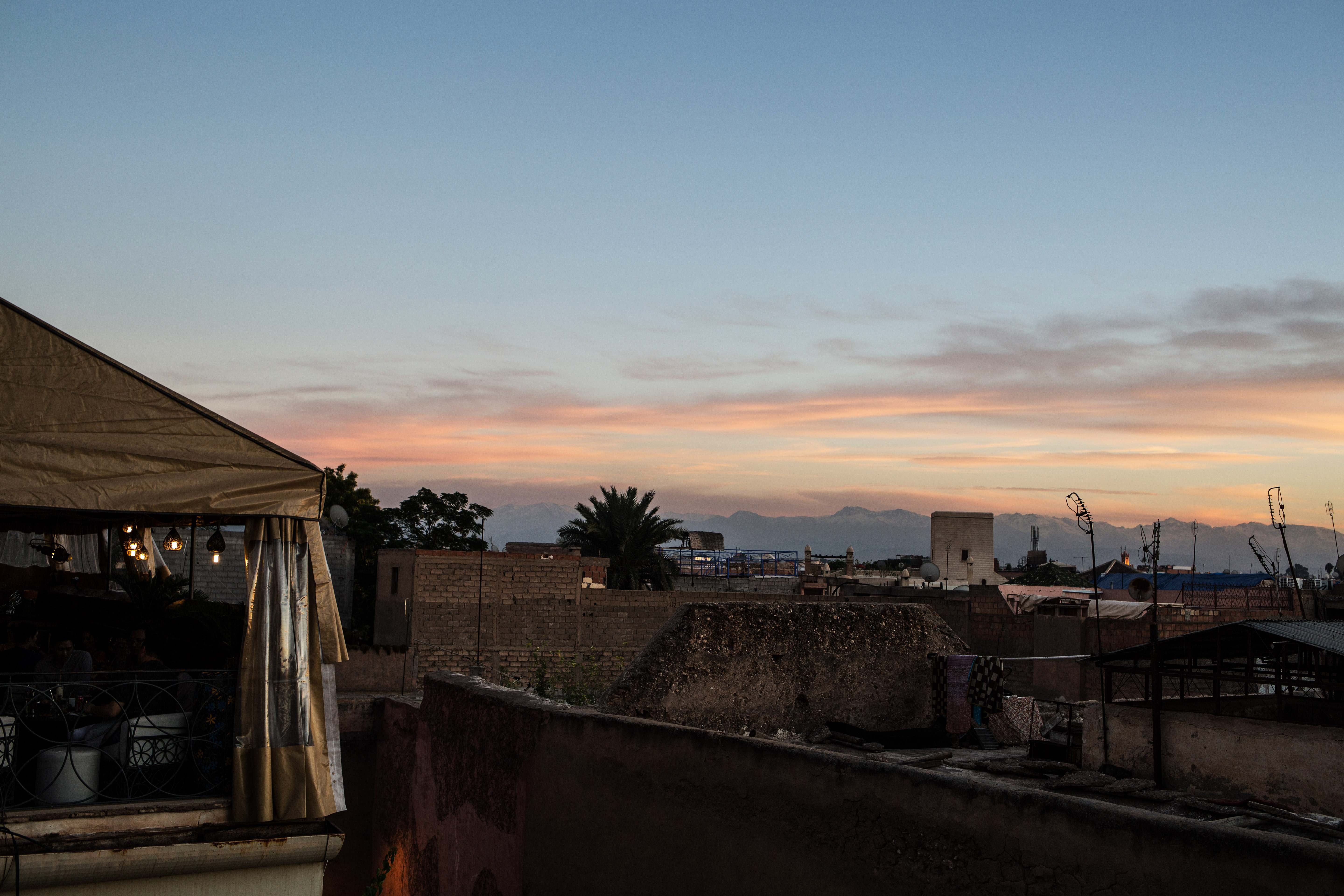 Le Jardin Secret and a sunset at Café Arabe Marrakech