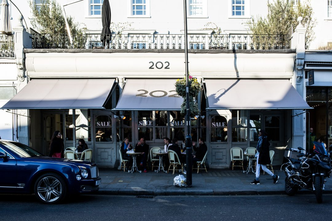 Saturday Brunch at 202 Notting Hill