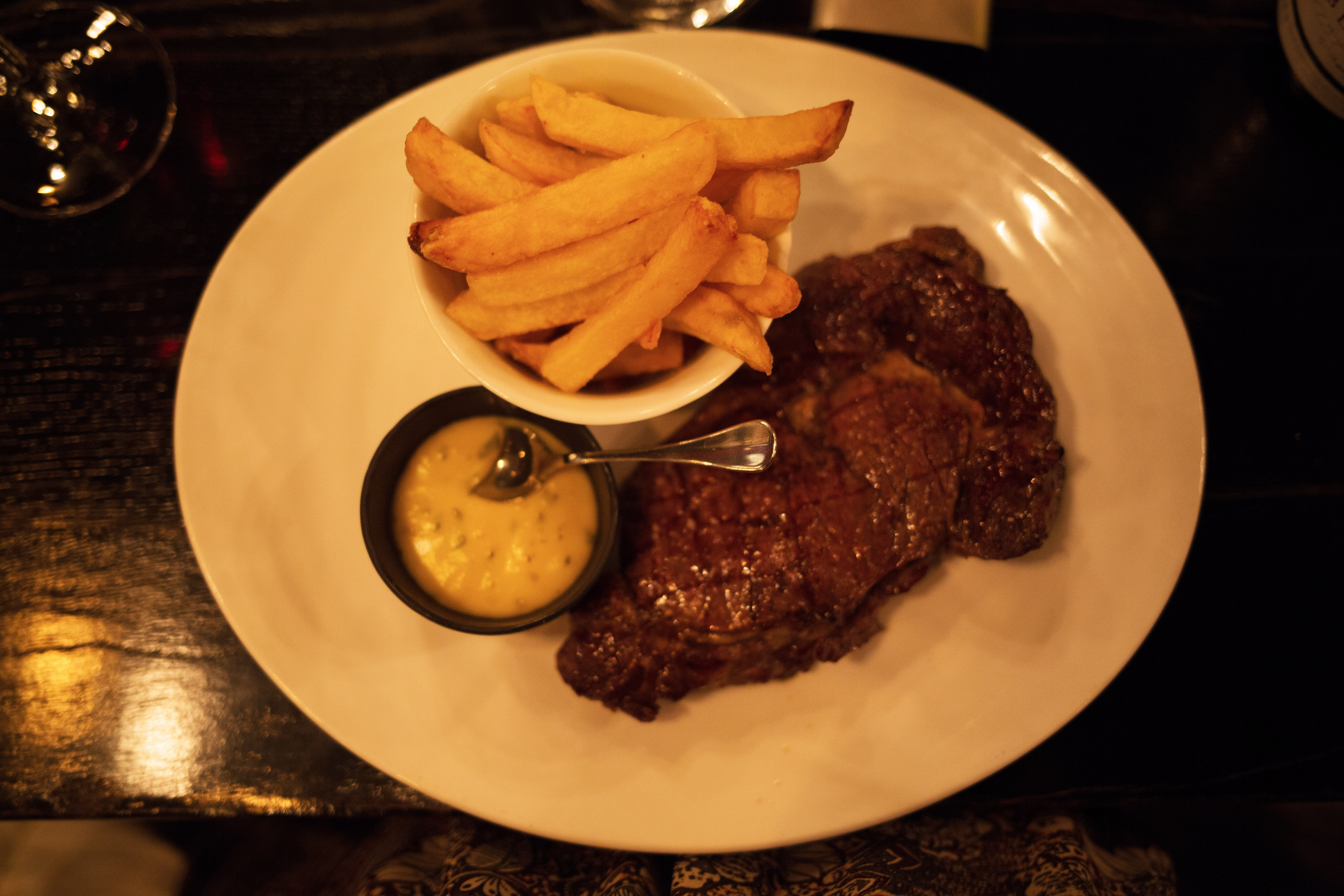 Regretting Steak and Chips at L'Escargot Montorgueil