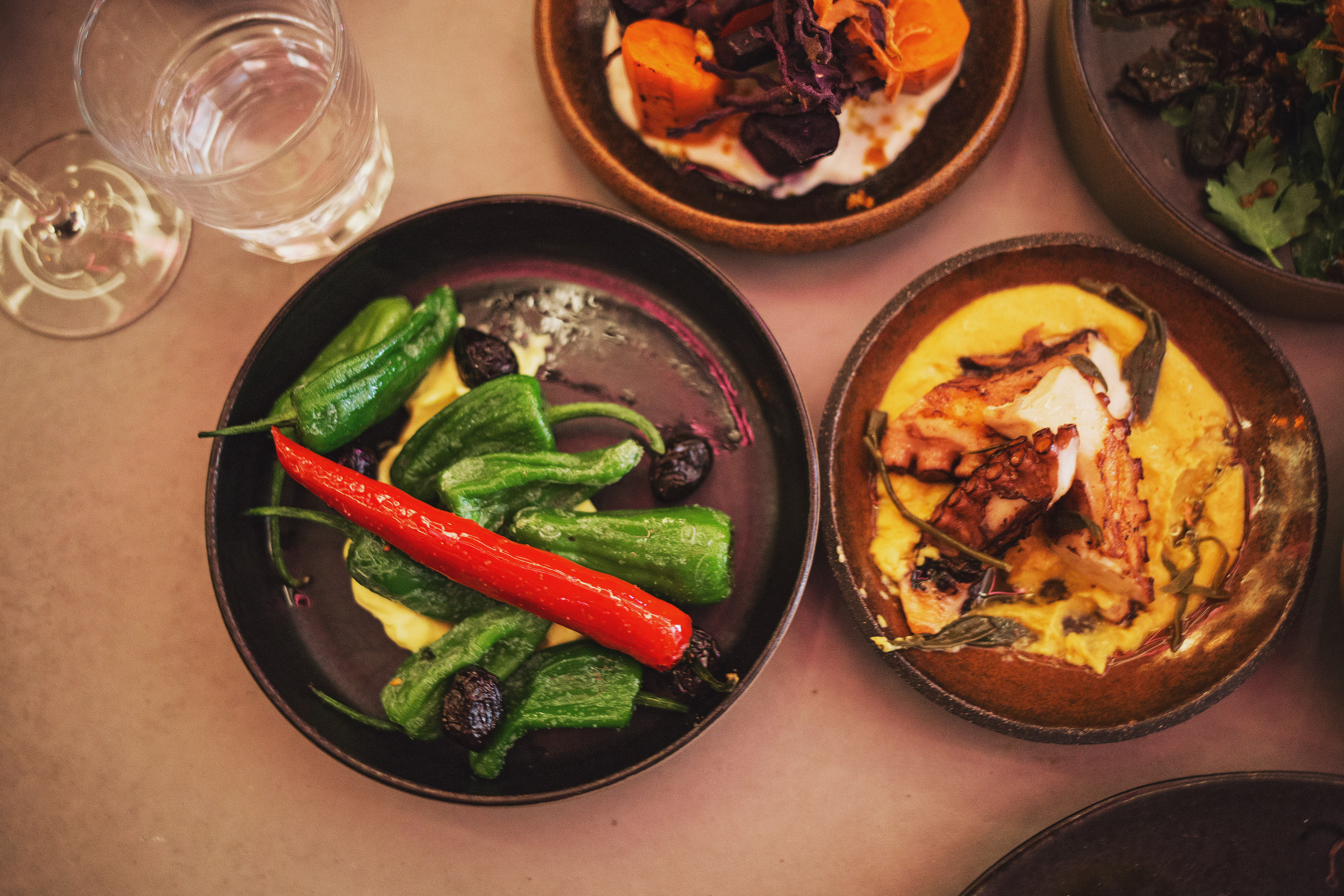 Aegan Mezze Sharing at Firedog Fitzrovia