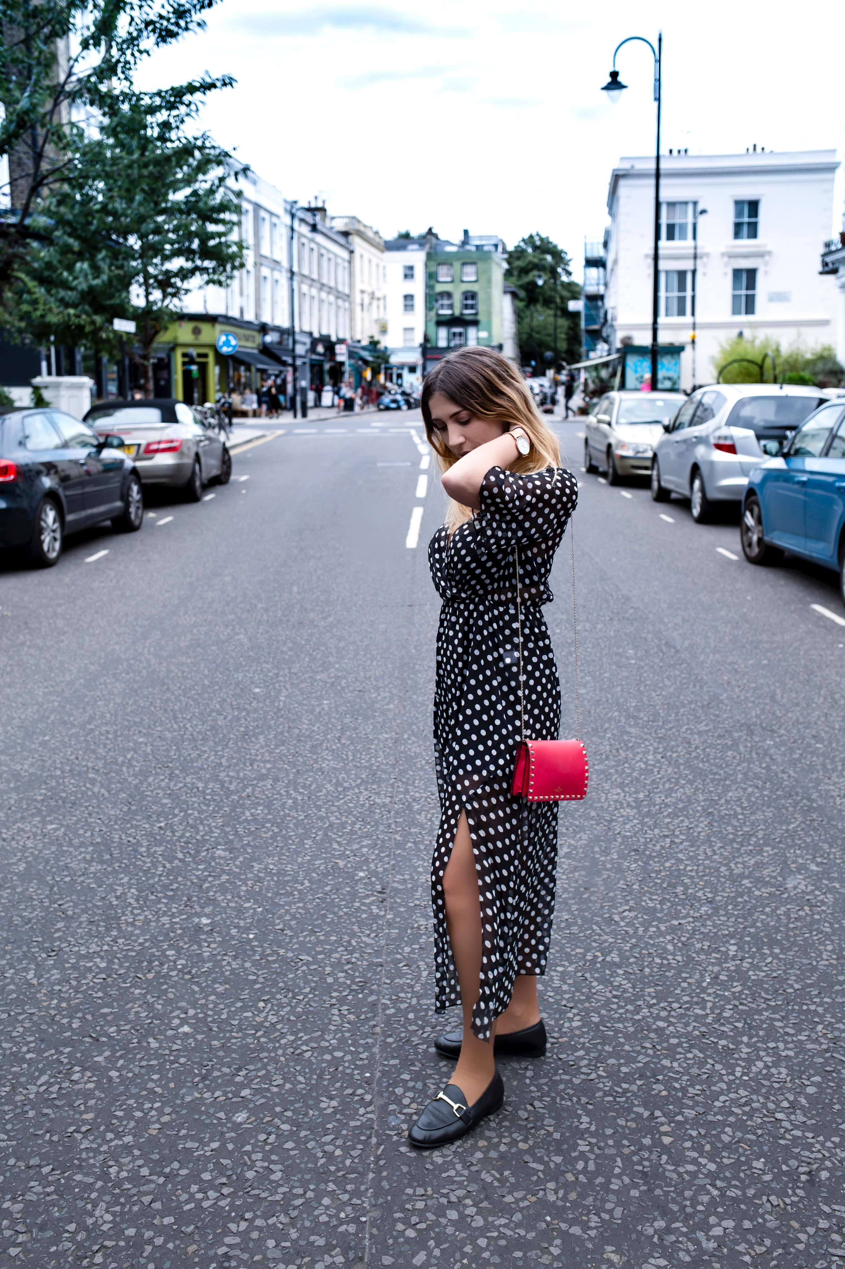 Polka Dots Dress for the Summer to Fall Transition