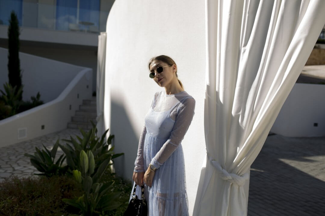 Blue Summer Dress that you can wear in Winter