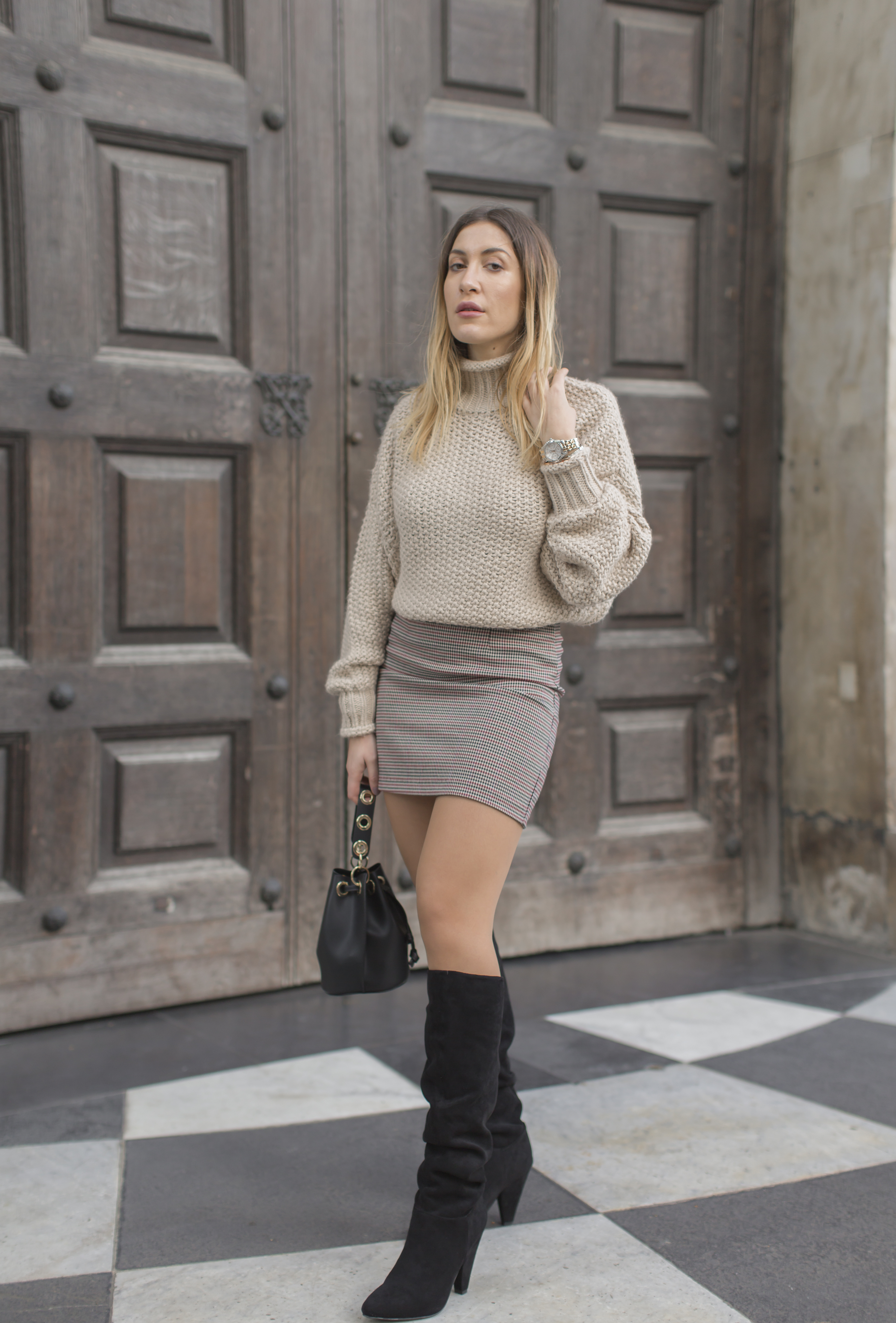 How to Style Slouchy Knee High Boots