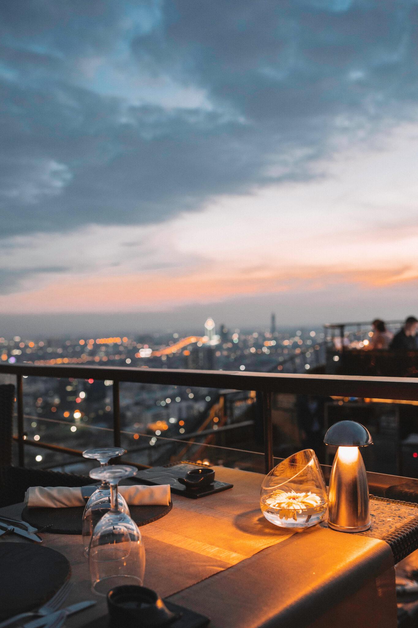 Best Sunset in Bangkok Dinner at Vertigo