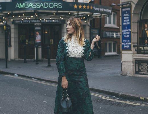 GREEN LINEN ZARA DRESS