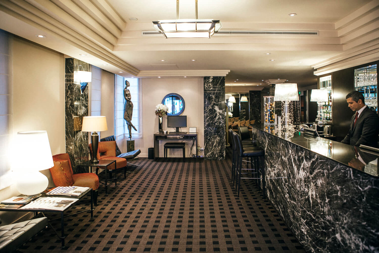 Hotel Plaza Eiffel Tower reception