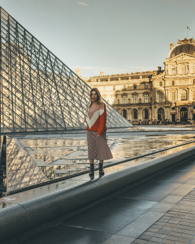 Sunset Louvre Paris