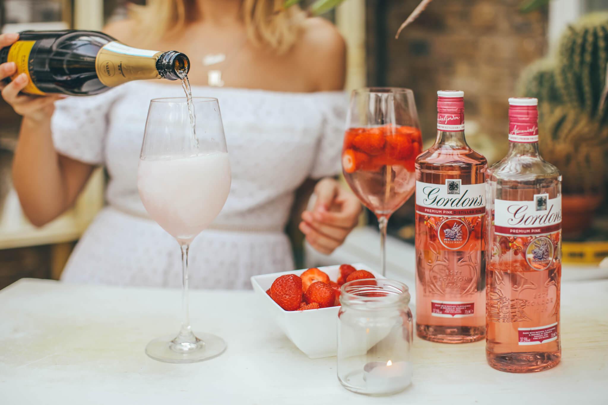 how to make Gordon's Pink Spritz