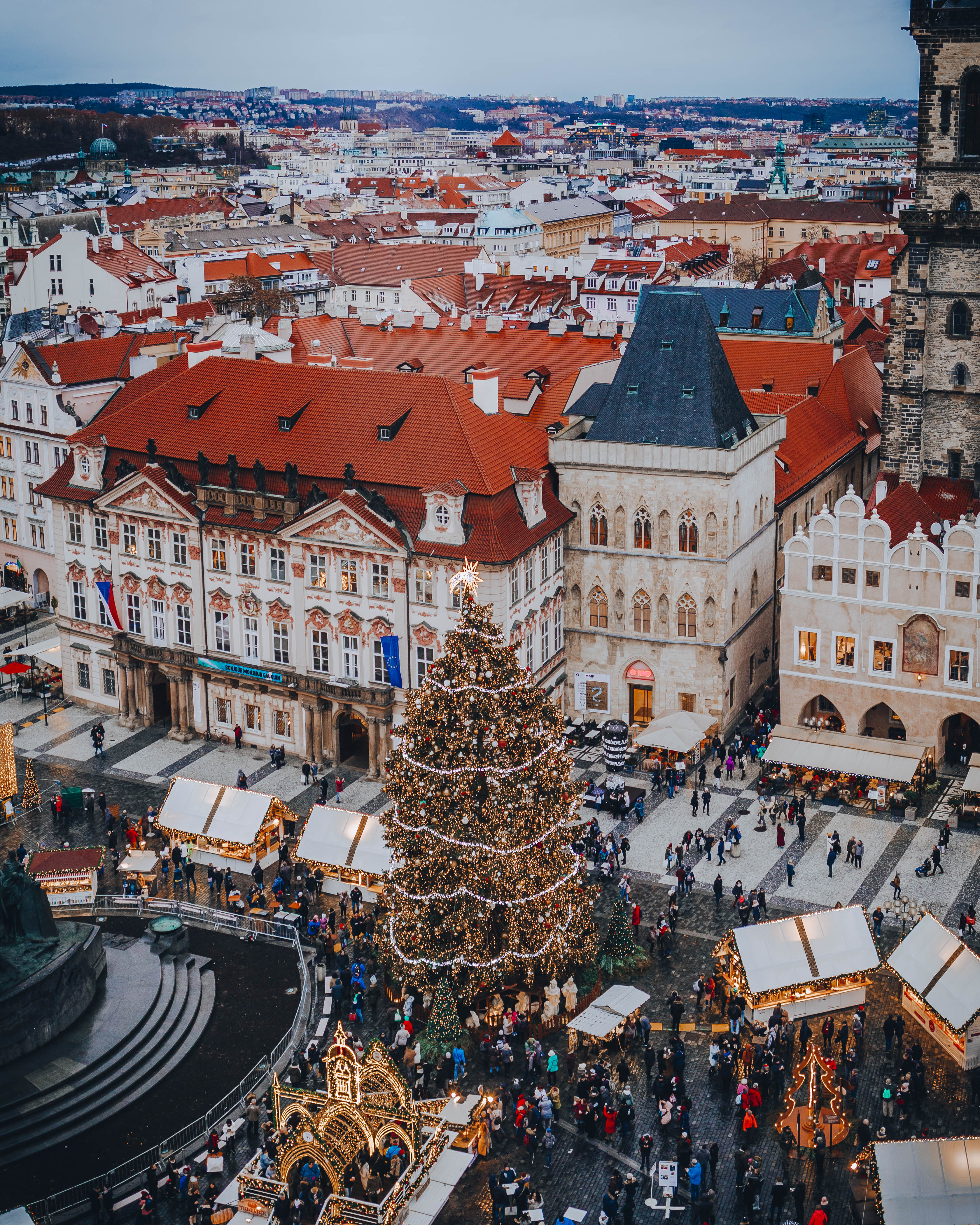 Old Town Square and the Old Town Hall tower Prague