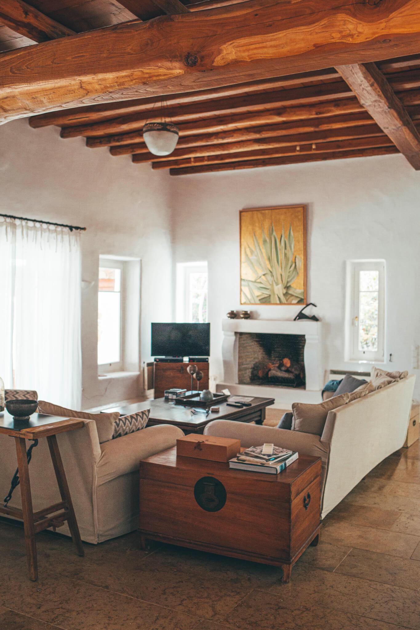 Dolce Vita Mykonos Villa living area